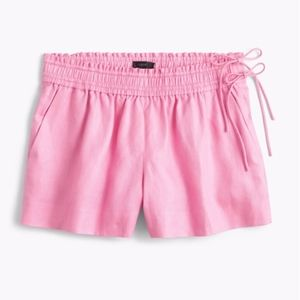 Pink J. Crew linen shorts